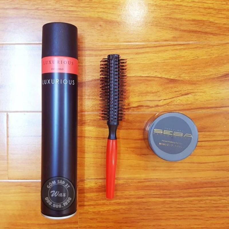 Gôm Xịt tóc Luxurious   sáp seba   lược tròn giá rẻ