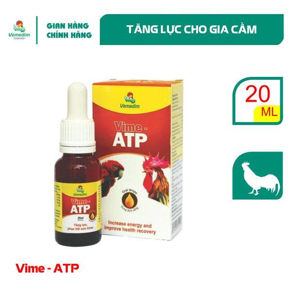 Vemedim Vime ATP drop cung cấp vitamin, tăng lực cho gà đá, chim cảnh, chai 20ml