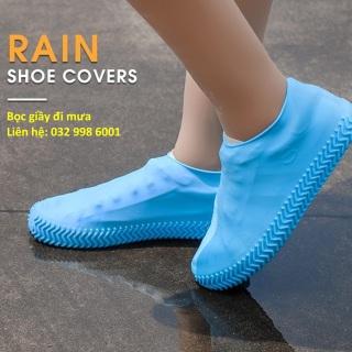 Bọc giầy đi mưa silicon chống trơn trượt siêu bền tiện lợi thumbnail