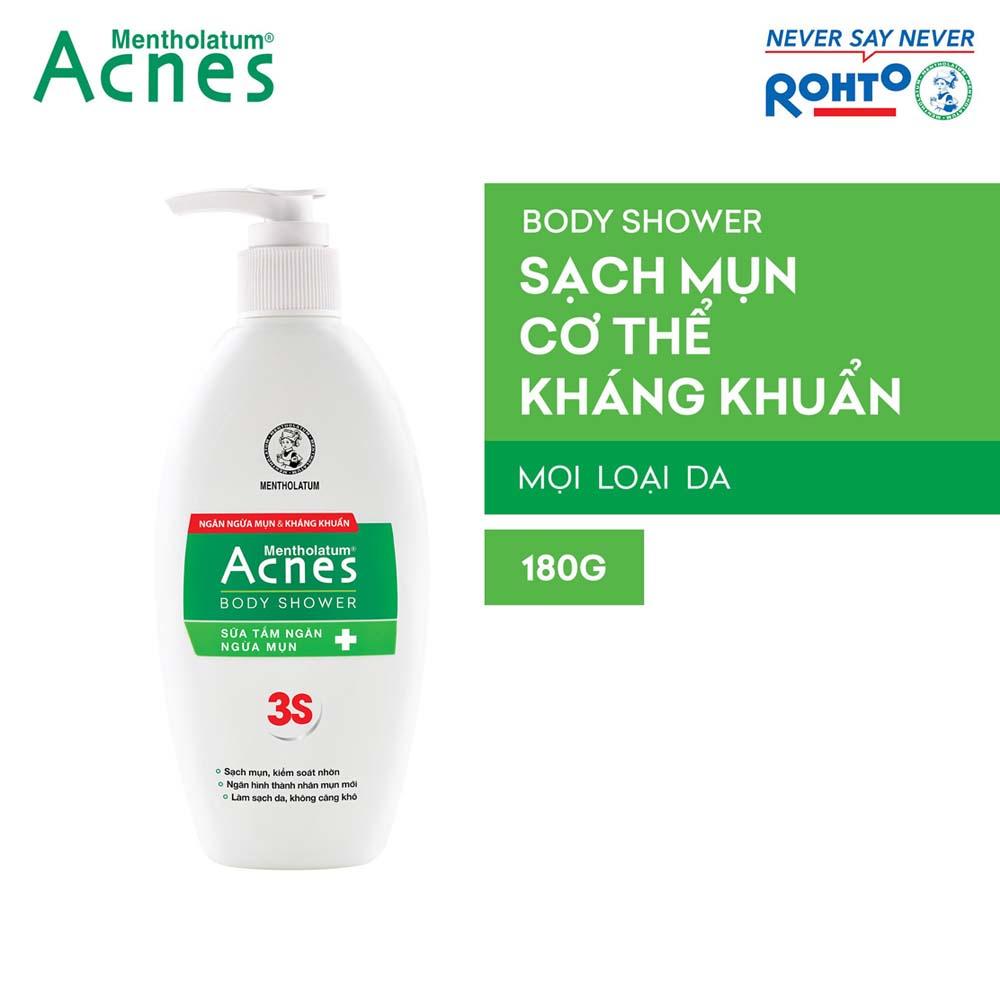 Sữa tắm ngăn ngừa mụn Acnes Body Shower 180g