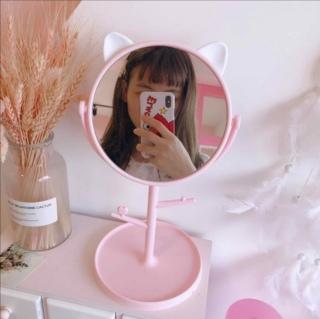 Gương tai mèo loại cao cấp. Gương trang điểm để bàn siêu cute thumbnail