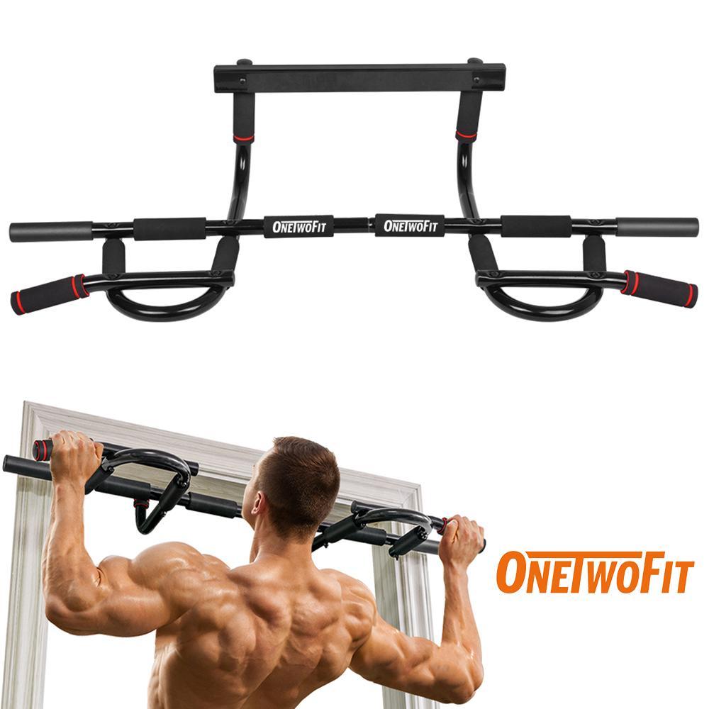 Bảng giá OneTwoFit Home Doorway Pull Up Bar Gym Chin Up Bar Multi-Grip Body Workout Bar Exercise Strength Fitness Equipment OT005. Thanh xà đơn nhiều tay nắm gắn khung cửa