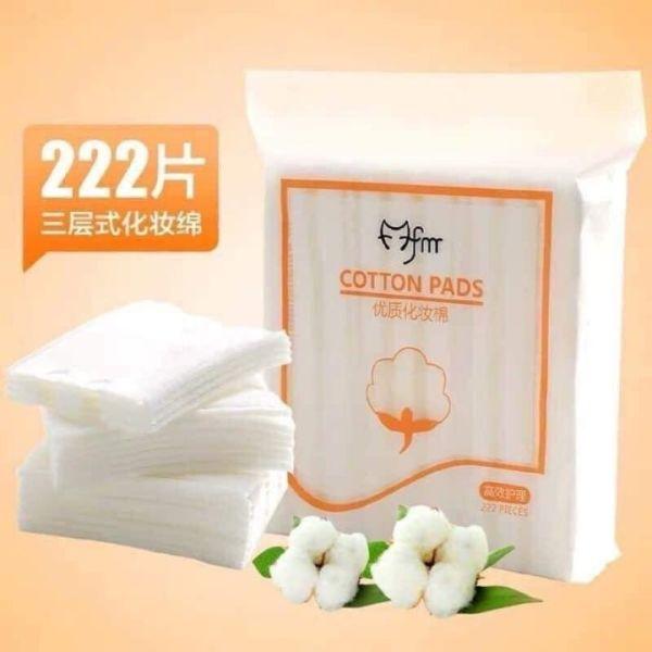 Bông tẩy trang 222 miếng 3 lớp cotton pads mềm mại, co giãn tốt, không hao nước tẩy trang và toner freeship HCM nhập khẩu