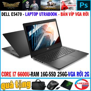 Siêu mỏng bản vga rời Dell Latitude E5470 ( i7-6600U, RAM 8G, SSD 256G,vga rời 2G đồ họa, màn 14 FullHD IPS) Laptop đẳng cấp doanh nhân Utrabook Mỏng Nhẹ sang trọng thumbnail