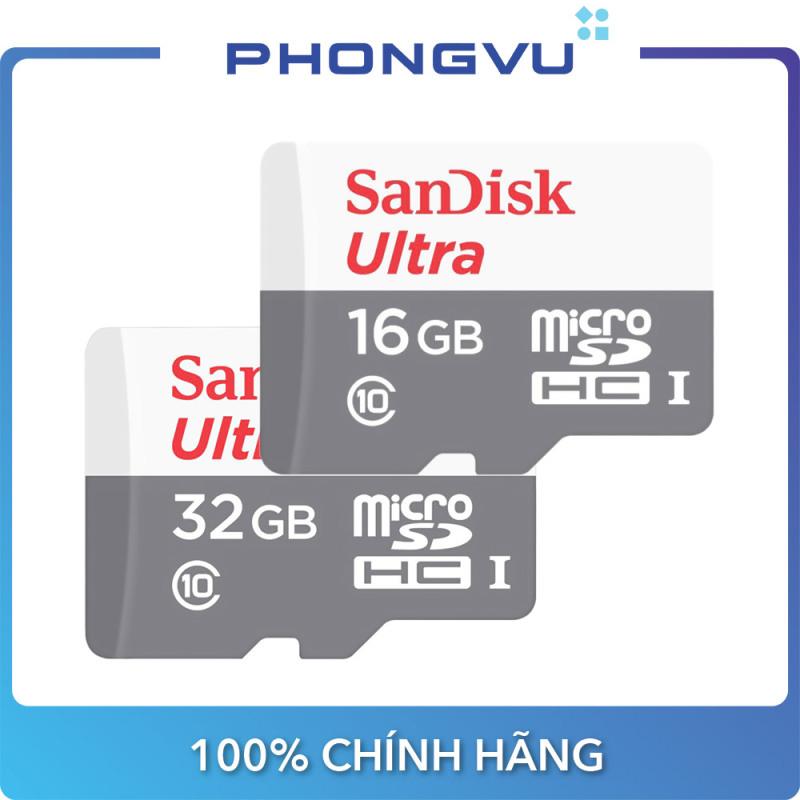 Thẻ nhớ Micro SDHC Sandisk 16GB/32GB (class 10) Ultra - Bảo hành 7 năm