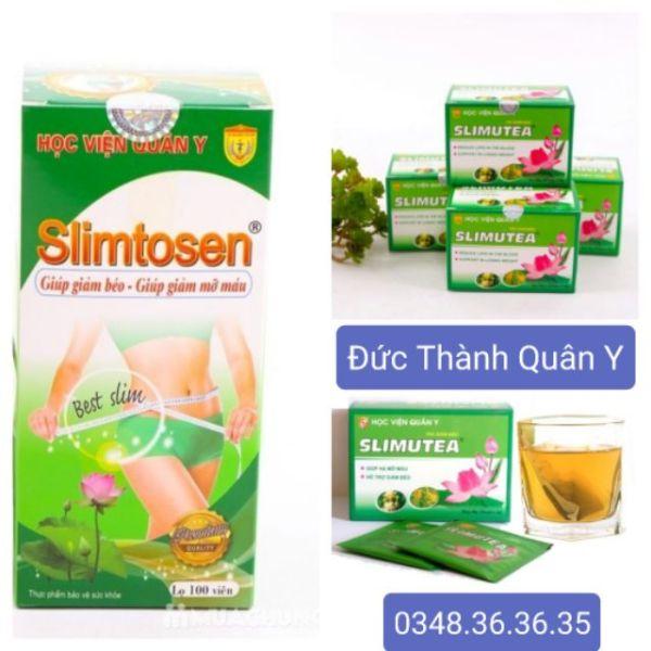 Bộ Giảm Cân 1 Slimtosen Extra + 4 Trà Slimutea - Học Viện Quân Y