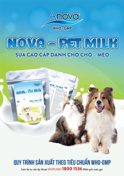 Nova-Pet Milk gói 100gr - Sữa cao cấp thay thế sữa mẹ dành cho chó mèo
