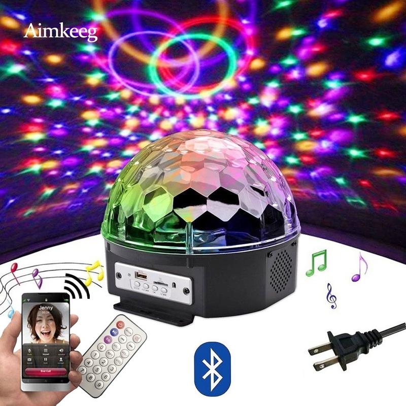 Loa Bluetooth 9 Màu Đèn LED Vũ Trường Hình Quả Cầu Với Máy Nghe Nhạc Mp3 Đèn Tiệc Laser Vũ Hội 18W Đèn Chiếu Laze Sân Khấu DJ