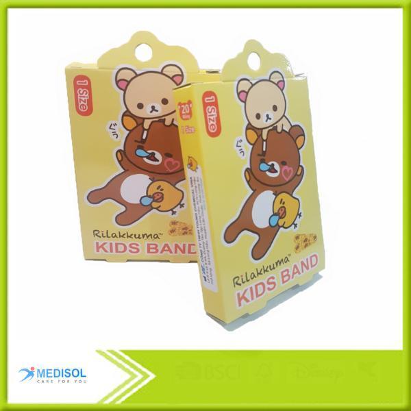 Băng Keo Cá Nhân In Hình - Rilakkuma Kids Band (hộp 1 size) nhập khẩu