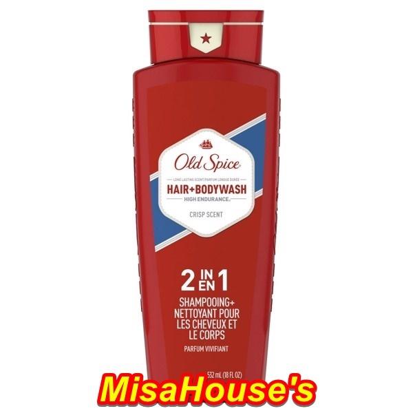 [USA] Sữa tắm gội nam 2in1 Old Spice High Endurance Hair + Body Wash 532ml - Mỹ