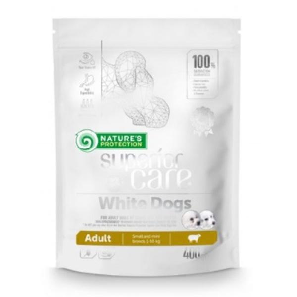 Nature's Protection Superior Care White Dogs Thức Ăn Bổ Sung Thịt Cừu Chó Trưởng Thành 400g