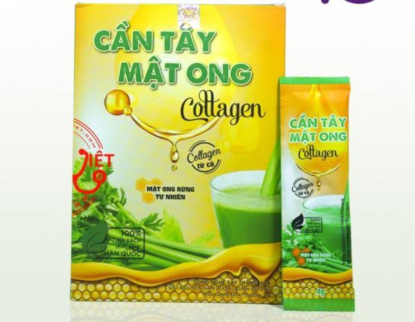 Bột Cần Tây Mật Ong Collagen Giảm Cân - Hộp 15 gói