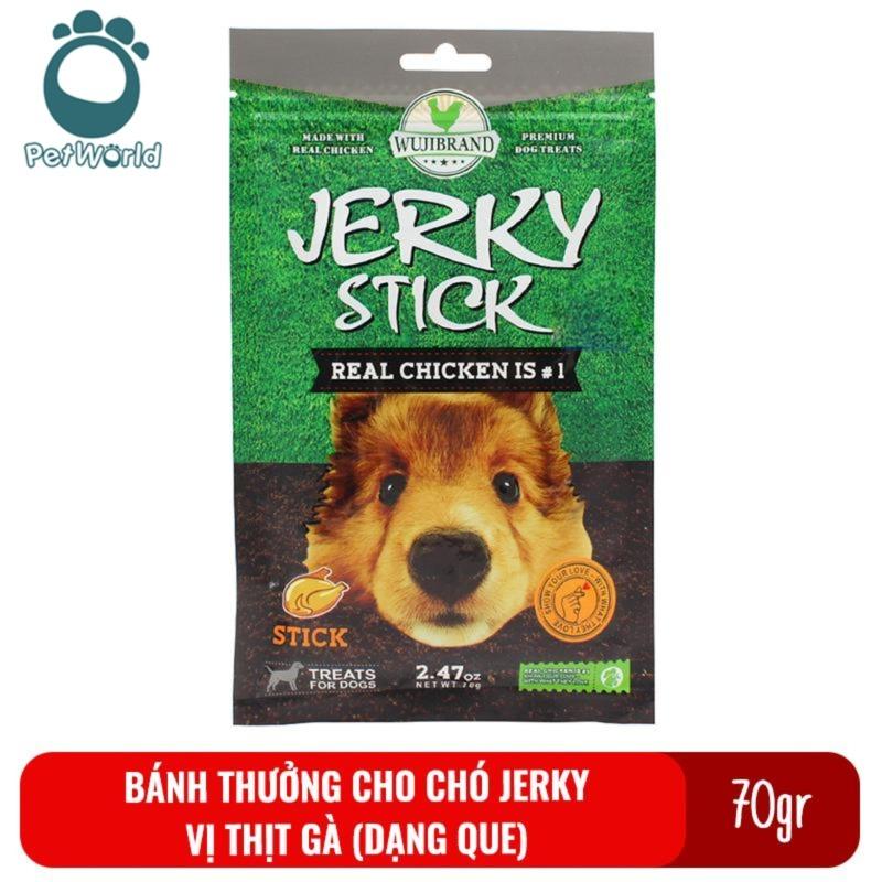 Bánh thưởng cho chó Jerky 70gr - Vị thịt gà dạng que