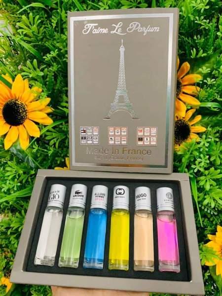 Set 6 chai nước Hoa Pháp mini nam nữ Jame Le Pafum giá rẻ