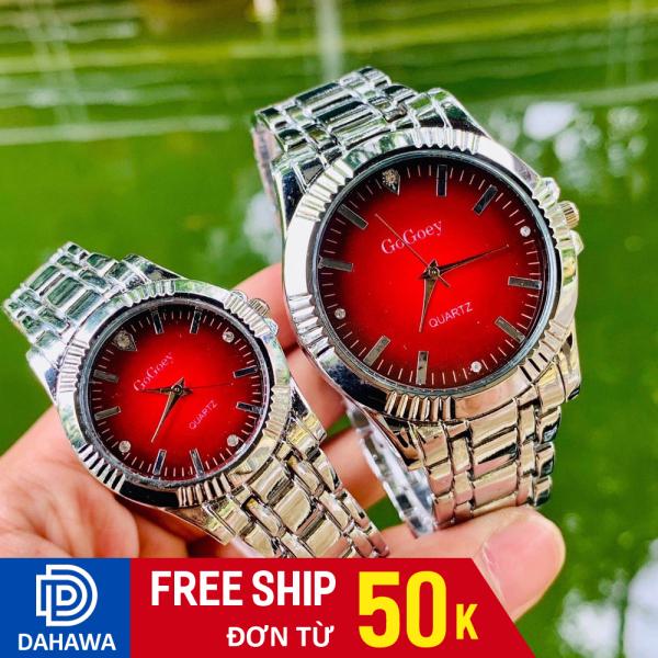 Đồng hồ thời trang nam nữ Gogoey G127, Đồng hồ thạch anh, dây demi bạc nhiều màu cực hot, bảo hành 6 tháng bán chạy