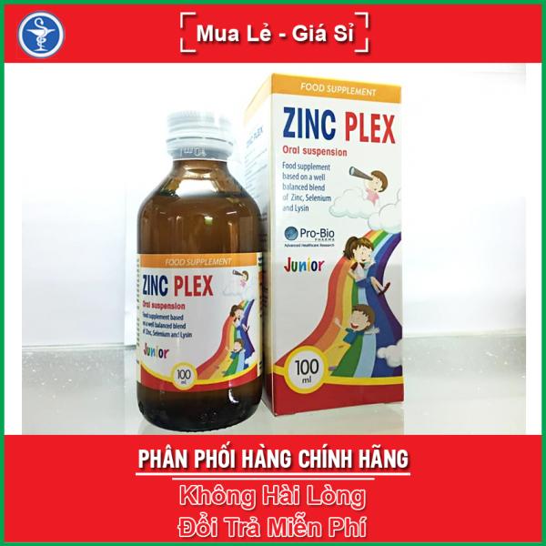 ZinC Plex giúp bổ sung kẽm, lysin cho cơ thể, hỗ trợ tăng cường sức đề kháng, kích thích tiêu hóa, giúp trẻ ăn ngon miệng / Zin C Plex