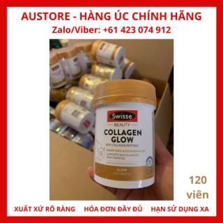 [Bill Úc, 120 viên] Swisse Beauty Collagen Glow With Collagen Peptides 120 Tablets, viên uống bổ sung collagen giúp da căng mịn & sáng bóng thumbnail