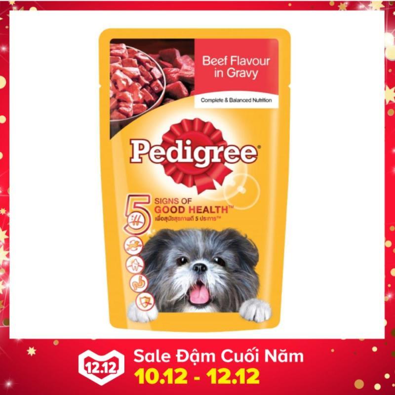 Thức ăn dành cho chó con Pate Pedigree vị thịt bò nấu sốt dạng túi (130g)