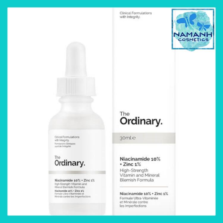 Serum cho da mụn, giảm thâm, cân bằng nhờn The Ordinary Niacinamide 10% + Zinc 1% 30ml