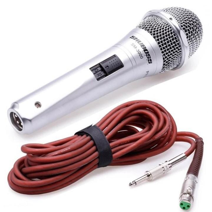[HCM][ HÀNG XỊN ] Chuyên Bán Micro Karaoke Cao Cấp  Micro Có Dây Giá Rẻ  Micro Có Dây Shuboss SM 3000 Chống Hú Chống Nhiễu Chống Giật Chống Méo Tiếng Hiệu Quả  Tiếp Âm Chuẩn  Bắt Giọng Tốt  Được Trang Bị Bộ Lọc Âm Tốt BH 12 Tháng.