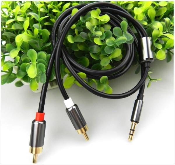 Bảng giá Dây Cáp Nối Audio Đầu 3.5 Ra 2 Đầu Hoa Sen (Rca) - Ky-142 Phong Vũ