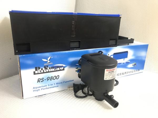 Máy lọc nước hồ cá RS 9800 ba chức năng: bơm + lọc + thổi khí, phù hợp cho bể thủy sinh dài 1 - 1.4m (Máy lọc chìm kèm máng lọc 30W 2100L/H)