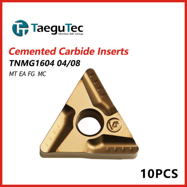 TaeguTec Cemented Carbide Inserts TNMG 1604 04/08/12  PC MT EM EA