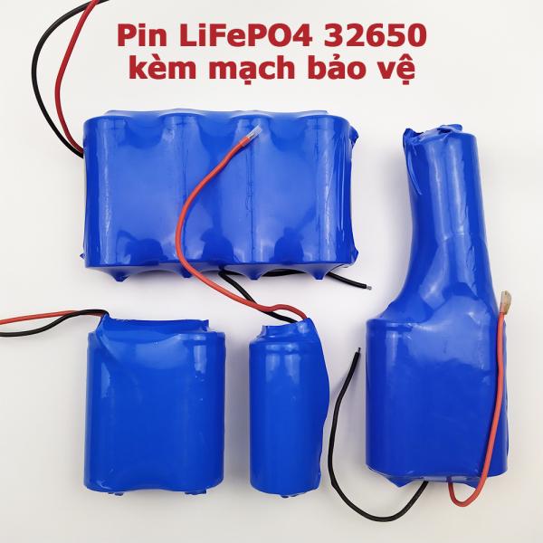 Bảng giá Pin sắt LiFePO4 32650 3.2V kèm mạch bảo vệ 1S cho đèn năng lượng mặt trời 25W 40W 60W 100w 200W