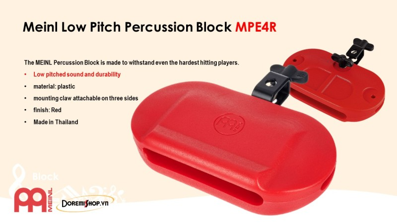 Mõ nhựa Meinl Low Pitched Percussion Block MPE4R
