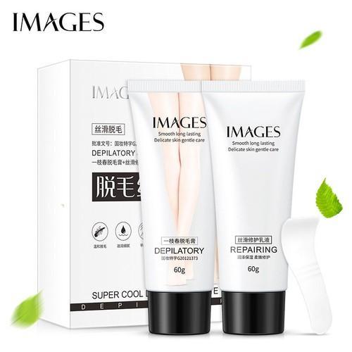 Combo Kem tẩy lông và dưỡng dịu da  IMAGES cao cấp