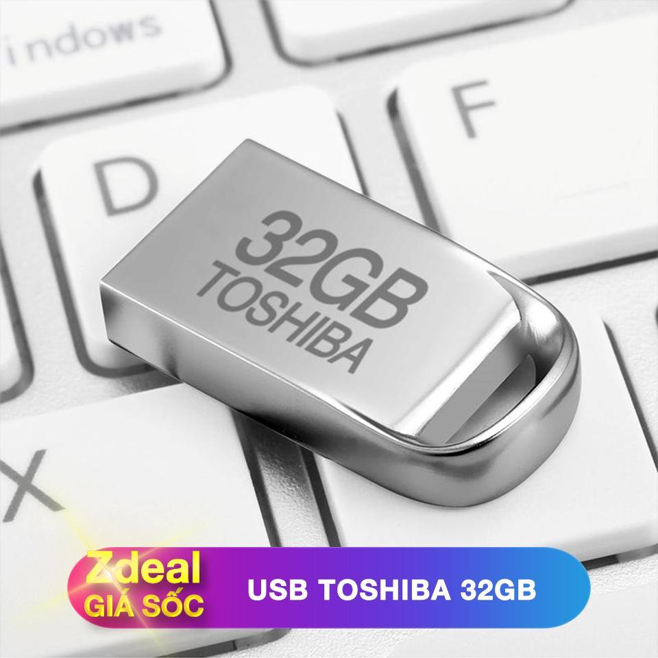Hình ảnh USB 32GB Toshiba siêu nhỏ chống nước màu Bạc - Bảo hành 5 năm - hàng FPT