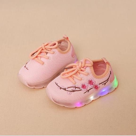 Giày bé gái - giay be gai - giay cho be gai - giày trẻ em - giay the thao cho be gai - giày phát sáng trẻ em - Giày cao cổ gắn đèn led cho bé gái