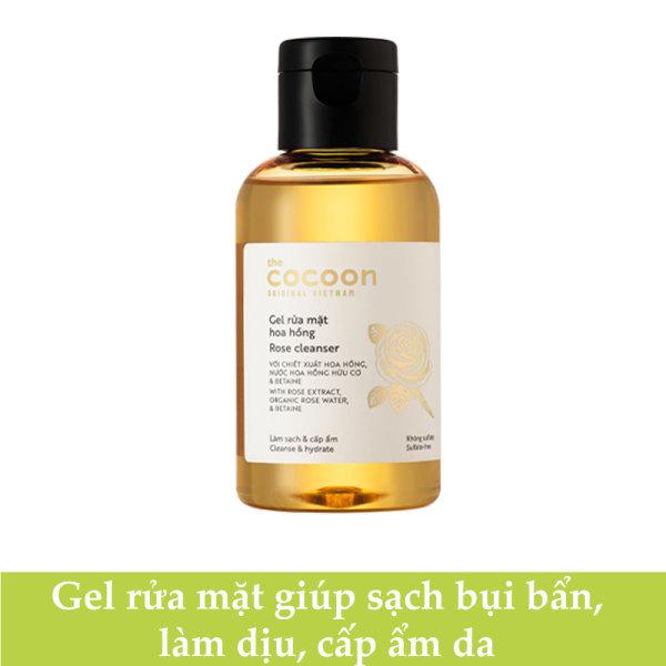 [HCM]Gel rửa mặt hoa hồng cocoon 140ml làm sạch da và ấp ẩm