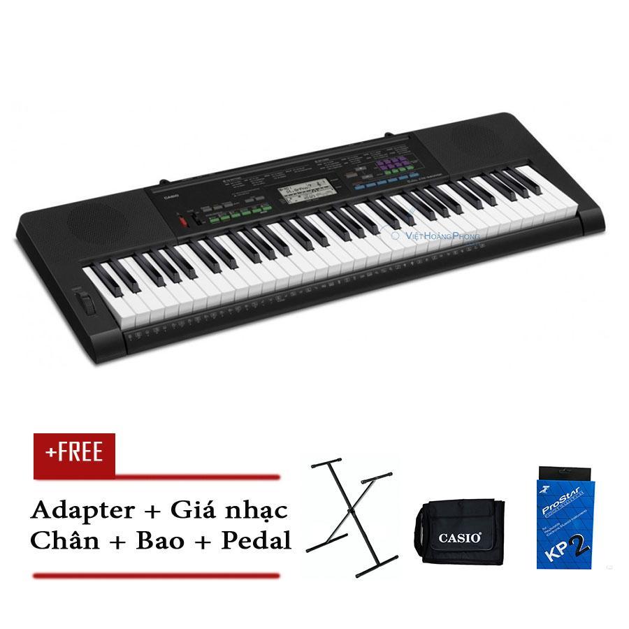 Mã Khuyến Mãi tại Lazada cho Đàn Organ Casio CTK-3400 Kèm AD - Chân + Bao đàn + Pedal (Touch Response) CTK3400 - HappyLive Shop