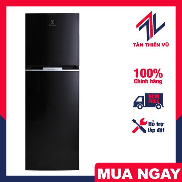 Trả góp 0% - Tủ lạnh Electrolux ETB3400H-H 320L Inverter, sang trọng và đẳng cấp với sắc đen huyền bí, sở hữu thiết kế 2 cửa, ngăn đá trên quen thuộc với người tiêu dùng Việt Nam - Miễn phí vận chuyển HCM