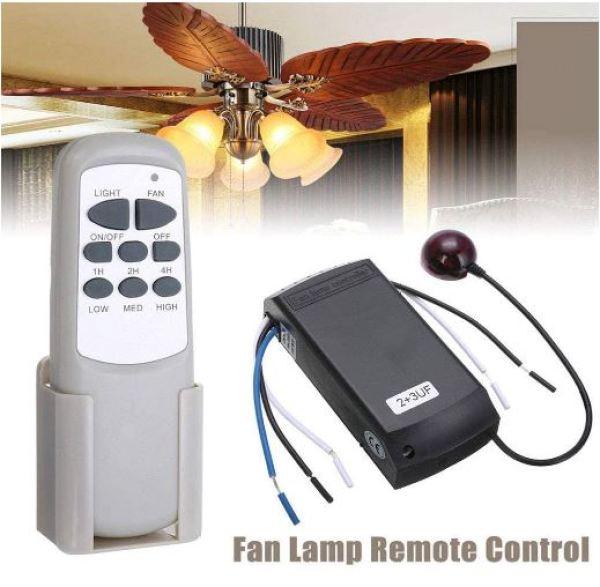 Bộ điều khiển từ xa cho quạt trần đèn công suất lớn 300W/220V HW8 Hàng Cao cấp thiết kế hiện đại sang trọng mạch quạt điều khiển từ xa - MACHQUATTRAN-HW8-DAT