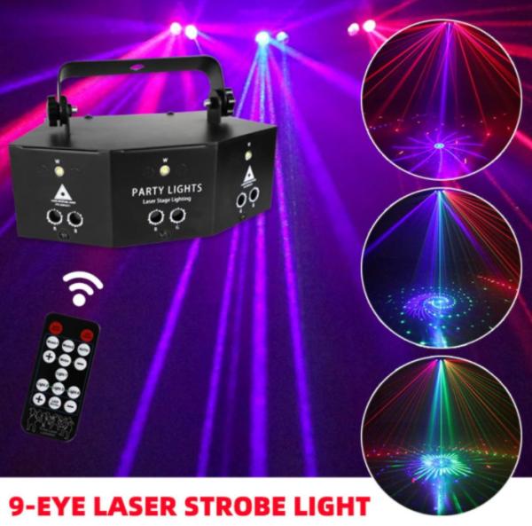 Đèn LASER cảm biến theo nhạc, đèn vũ trường , đèn sân khấu, đèn trang trí phòng Karaoke, hàng cao cấp ( có Remot )
