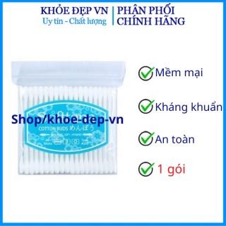 1 gói Bông tăm kháng khuẩn Tân Á, người lớn trẻ em chính hãng Nhật NPP Shoptido thumbnail