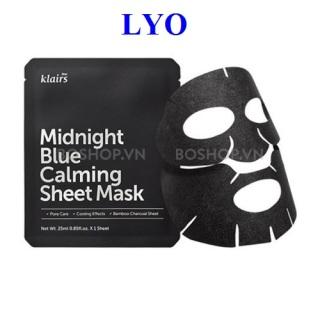 Mặt nạ cấp ấp phục hồi da Dear Klairs Midnight Blue Calming Sheet Mask - 25ml thumbnail