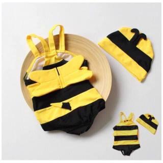 Set đồ bơi bé ong, đồ bơi 1 mảnh kèm nón cho bé có cánh, đồ hóa trang