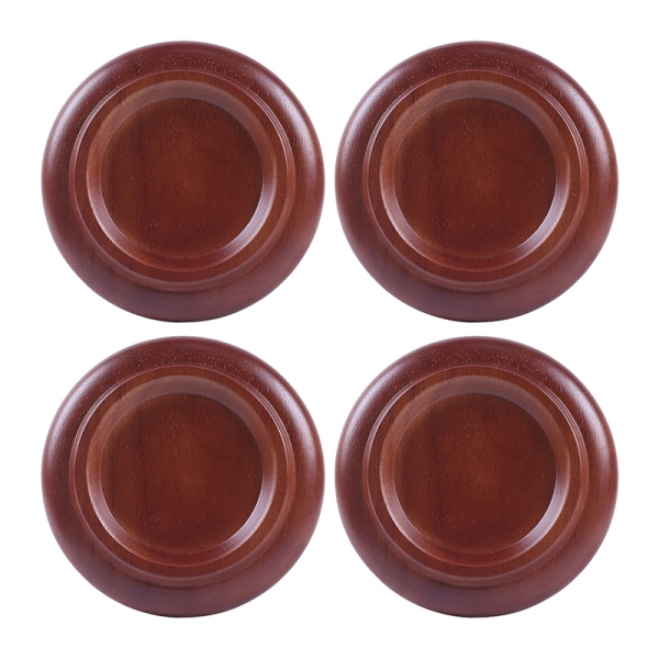 Piano Caster Cups Solid Wood Piano Feet Shockproof Soundproof Non-Slip Mat for Upright Grand Piano a Set of 4