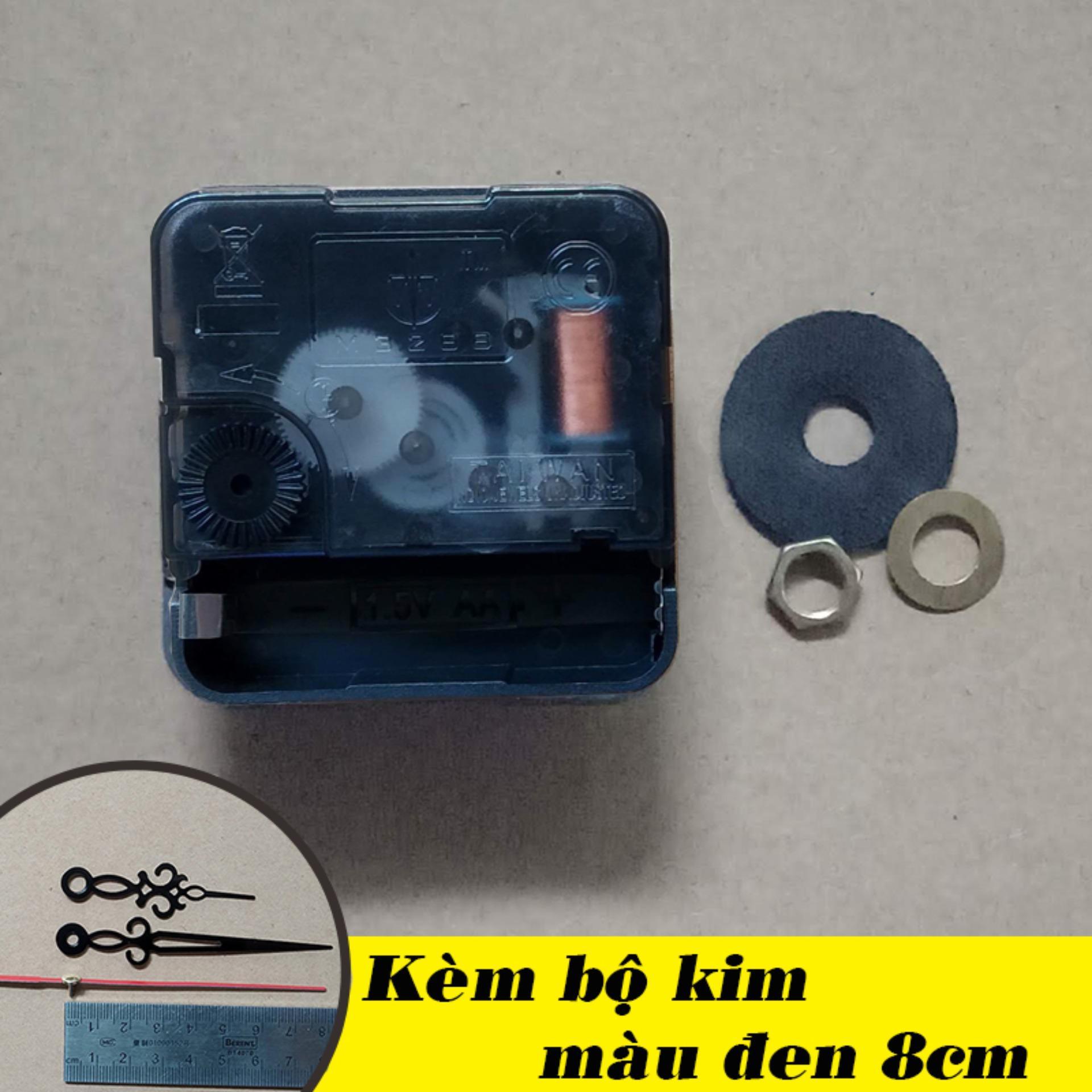 Nơi bán Bộ kim đen 8cm và Máy đồng hồ treo tường Taiwan kim giật M3288