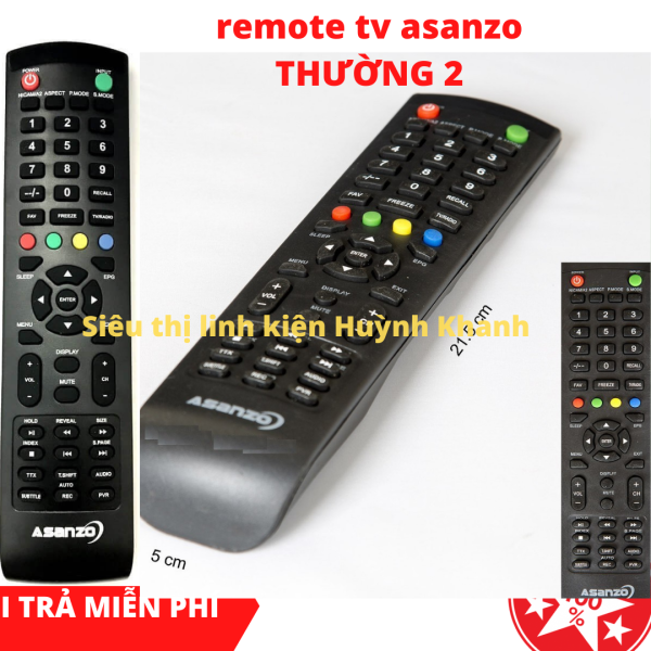 Bảng giá REMOTE TV ASANZO THƯỜNG 2 SIỀU BỀN ĐẸP CHÍNH HÃNG