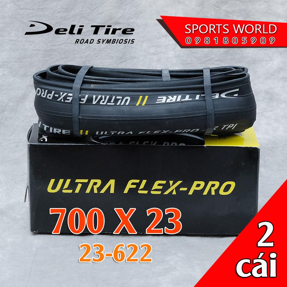 Vỏ lốp xe đạp 700x23 (23-622) SA-205 DELI-TIRE ULTRA FLEX-PRO (số lượng 2 cái)