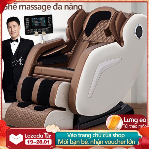Ghế massage kiểu mới màn LCD cảm ứng, kiểu 0 trọng lực, có thể phát nhạc massage toàn tự động cao cấp mới Redepshop
