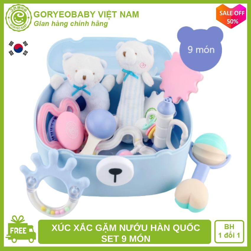 Set đồ chơi xúc xắc cho bé CHÍNH HÃNG GORYEO BABY Hàn Quốc - Goryeobaby Việt Nam - an toàn, phát triển kỹ năng cho bé, xúc xắc cho bé, ngậm nướu, lục lạc cho bé, đồ chơi trẻ sơ sinh