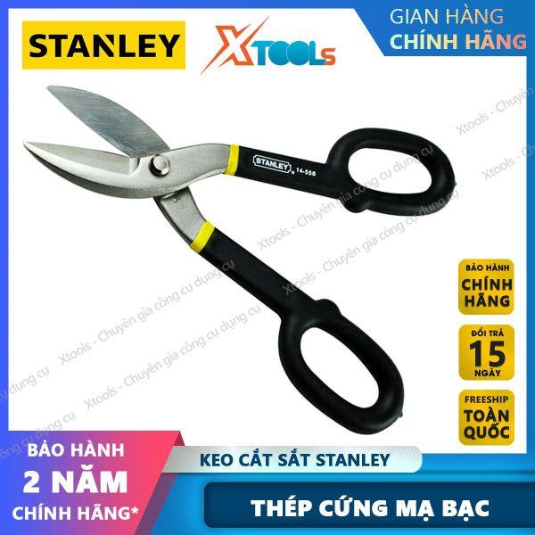 Kéo cắt sắt STANLEY gia công từ hợp kim thép cứng cáp. Kéo cắt tôn tay cầm êm ái nắm chắc, cắt được nhiều chất liệu khác nhau, đường cắt ngọt không gợn vết [XTOOLs] [XSAFE]