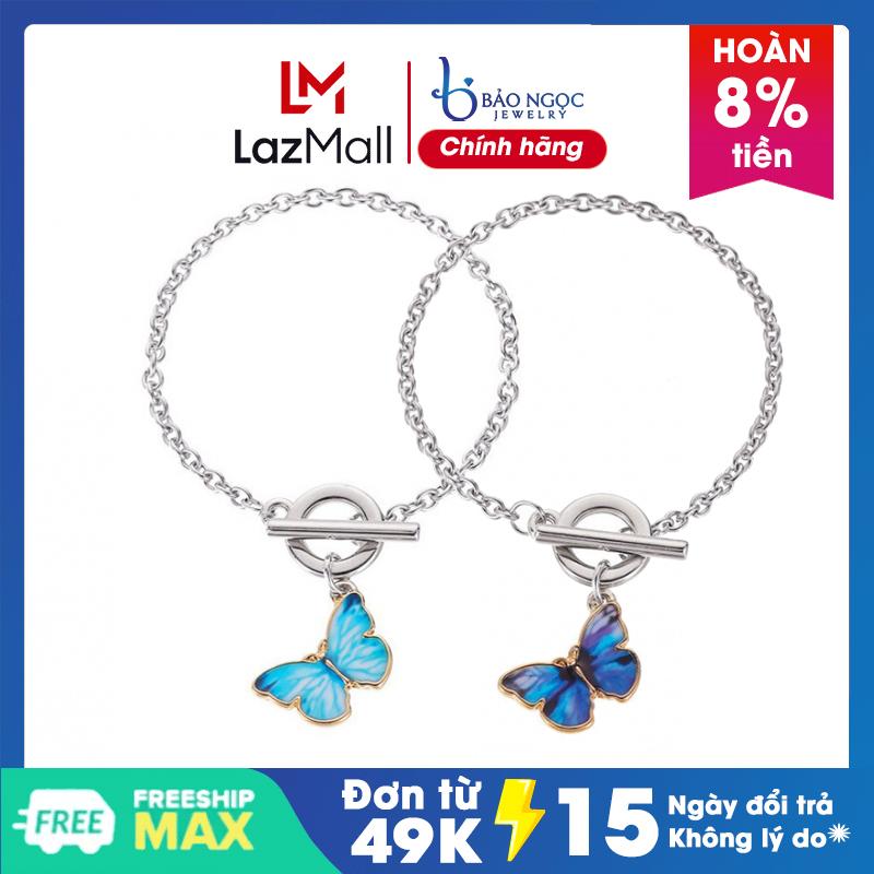 Lắc  tay | Lắc Tay Nữ hình con bướm thiết kế đẹp mắt dành cho nữ XB-L45 - Bảo Ngọc Jewelry