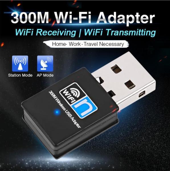 Bảng giá USB wifi, USB thu sóng wifi tốc độ cao 300mbps dành cho PC và laptop (Không râu) Card mạng không dây thu wifi USB 300Mb Phong Vũ