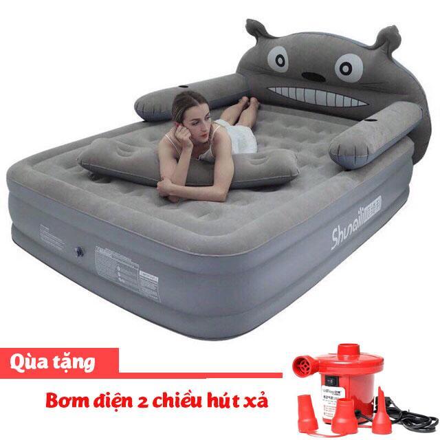 Giường hơi hình thú 3 tầng đủ bộ, giường hơi, đệm hơi 3 tầng + tặng kèm bơm điện GDTHONGAC